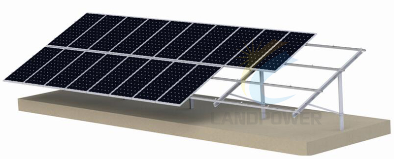 pile driven solar ground mounting