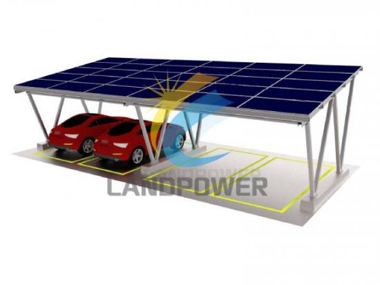 China Oem Aluminum Solar Panel Carport Structure Manufacturers Landpower